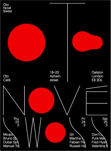 Swiss graphic design studio Studio Feixen has collaborated with Marc Schwegler on a new event, Oto Nové Swiss. The result is an interactive, digital poster with hidden musical surprises.