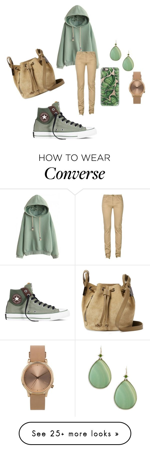 """cnverse cute nice hoodie"" by noexes on Polyvore featuring мода, Monkee Genes, Converse, Time's Arrow, Casetify, Stephen Dweck и Topshop"