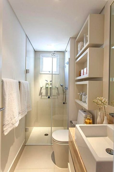 Thoughts: An idea to put those open cabinets on toilet walls for toiletries and towel arrangements / fresheners and other washroom necessities