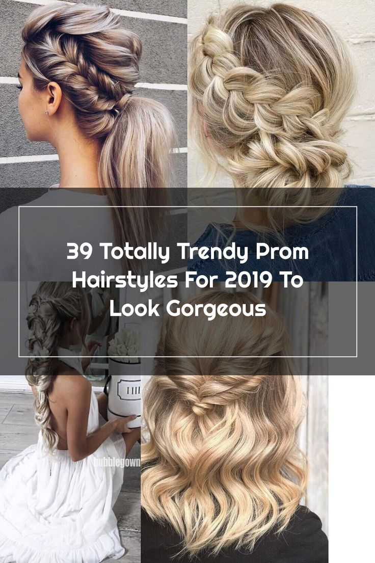 Ponytail Hairstyle For Prom With Side Braid #sidebraid #ponytail ★ It is high time to think ...