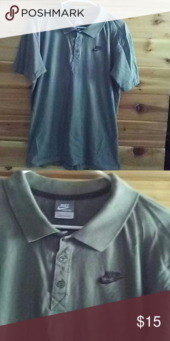 Nike polo shirt Olive green mens Nike polo shirt size medium.  Very nice! Nike Shirts Polos