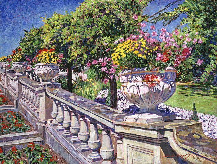 David Lloyd Glover (b.1949) —  Stairway Of Urns, 2014    (900x683)