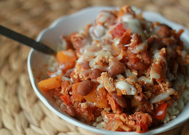 Vegetarian Butternut Squash and Beer Chili with Optional Ground Turkey