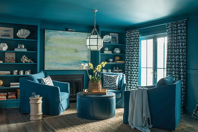 Ocean Blue Wall Trim Ceiling Color Deep Ocean Living Room Colors Living Room Color Schemes Living Room Color