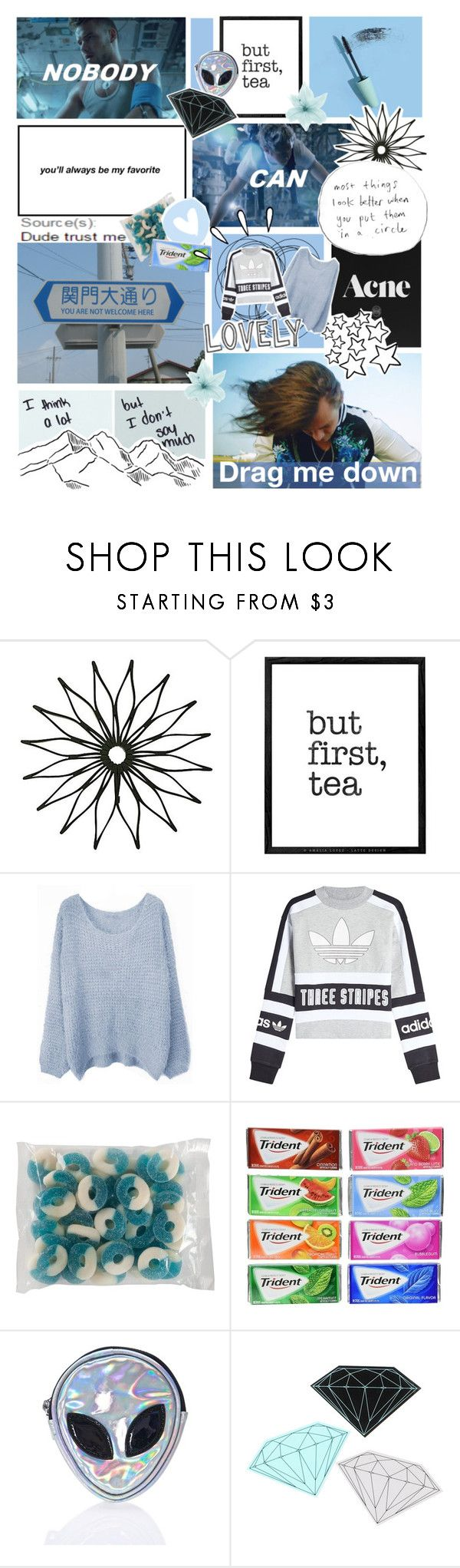 """Nobody Can Drag Me Down #143"" by princesscheesecake ❤ liked on Polyvore featuring WALL, adidas Originals, Disturbia, Diamond Supply Co. and Old Navy"