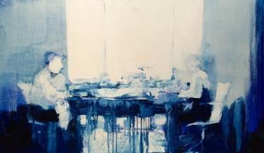 "Saatchi Art Artist Mona Hoel; Painting, ""Alone Together - Blue"" #art"