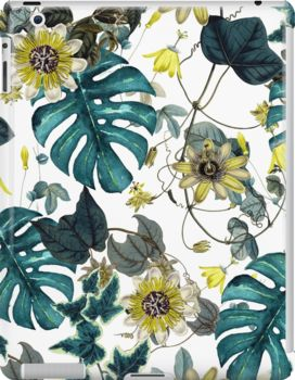 iPad Cases & Skins Tropical Flowers by talipmemis