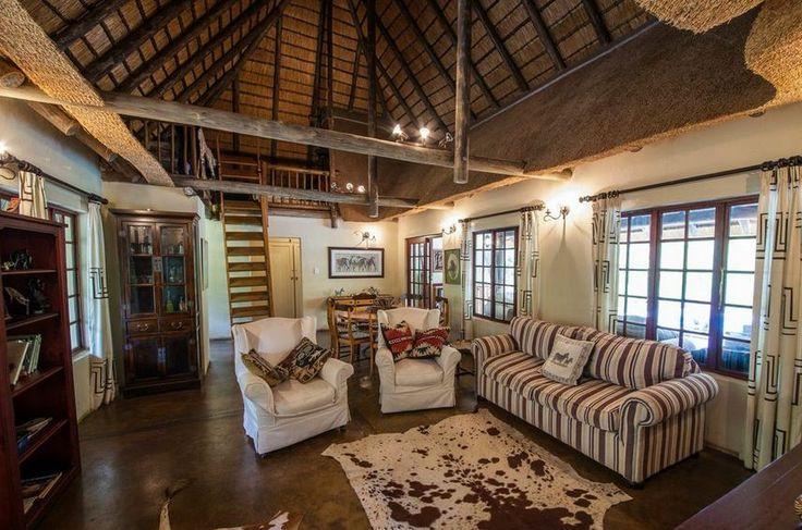 The Cottage -- Lounge area -- Rustic & luxurious -- Luxury Safari lodge in KZN