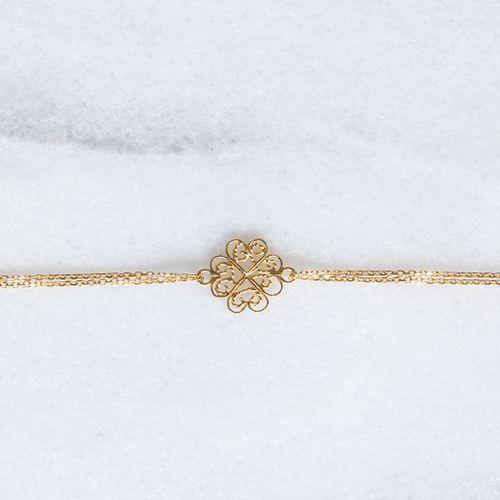 "Filirose ""Dina gold Bracelet"" - Minimalistic, elegant fine jewelry with Portuguese filigree"
