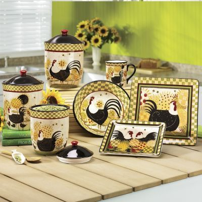 Rooster dinnerware & 30 best Rooster dinnerware images on Pinterest | Rooster decor ...