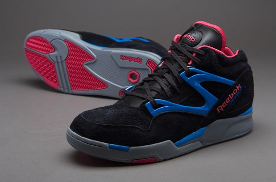 Reebok Pump Omni Lite - Mens Select Footwear - Black-Candy Pink-Cycle Blue-Flat Grey