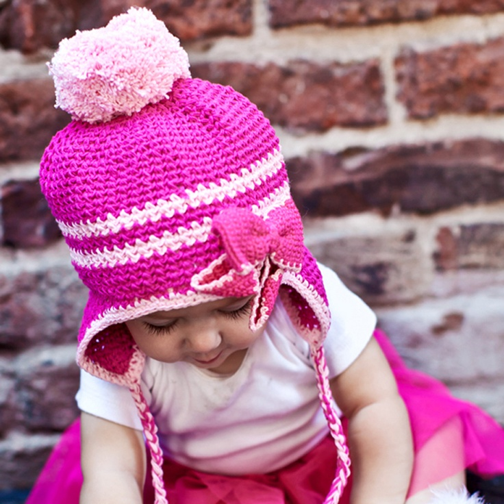 This adorable hat is perfect for chilly walks to the park or playing in the snow.