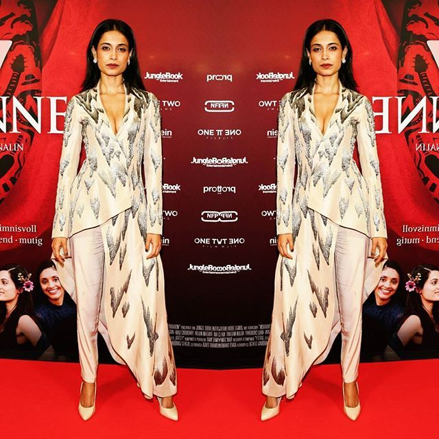 #SarahJaneDias in #DollUp beige #INTOTOs at Berlin Film Festival for her film Angry Indian Goddesses. http://www.intoto.in/doll-up-61