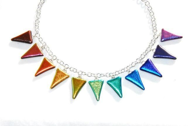 Fused Glass - Chromatic Triangle Necklace £45.00