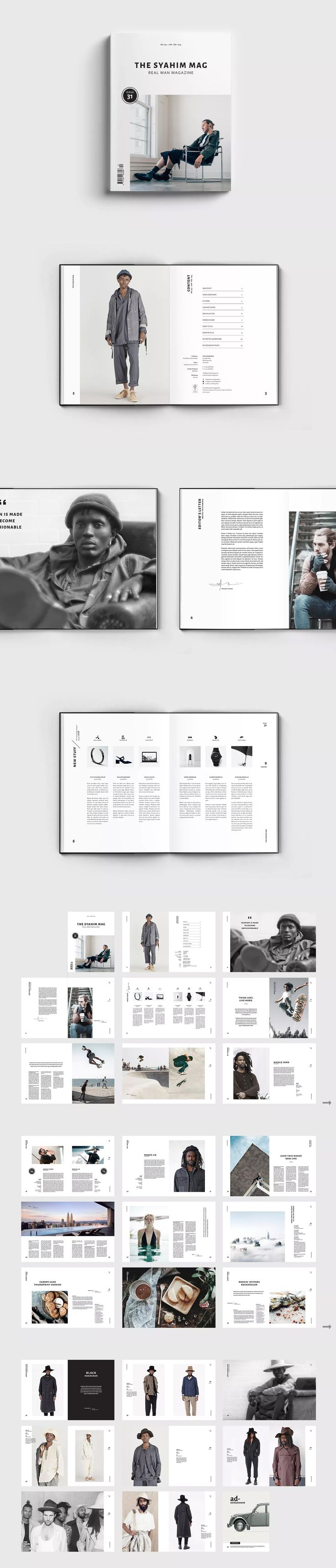 Magazine Template InDesign INDD - A4 & US Letter size