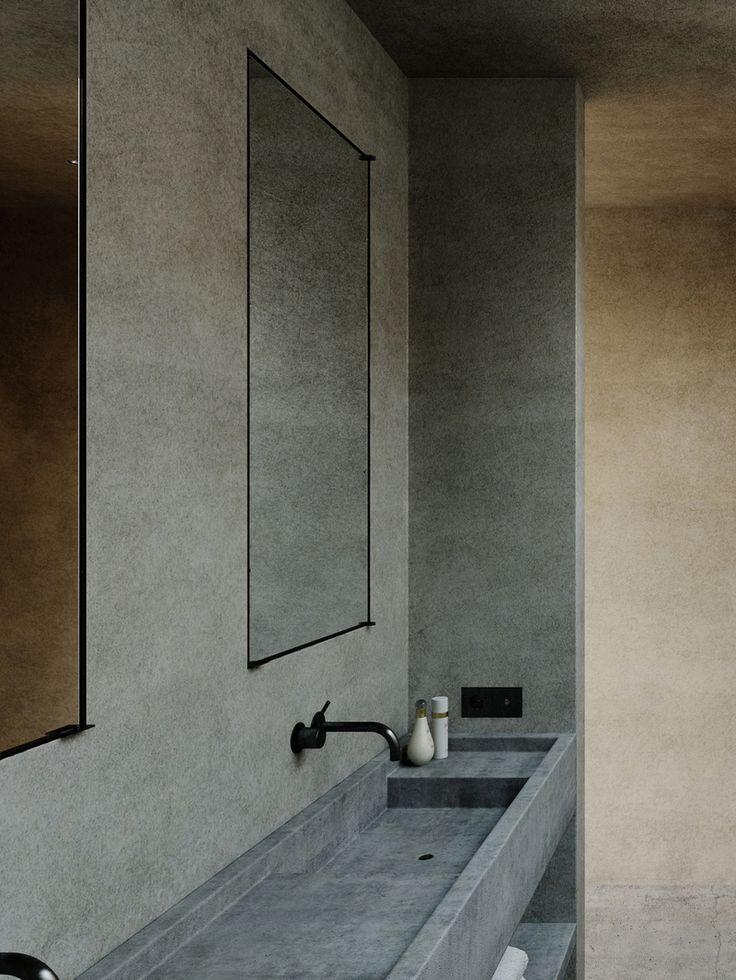 Minimalist Bathroom in Cap d'Antibes, FR by Nicolas Schuybroek architects