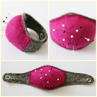 Whoever doesn't think this is the best idea since sliced bread never had to sew anything! Not only is this DIY wrist pin cushion great for us to make with leftover fabci, but also great to use (to make more DIY wrist pin cushions!) #RowcroftHospiceShops