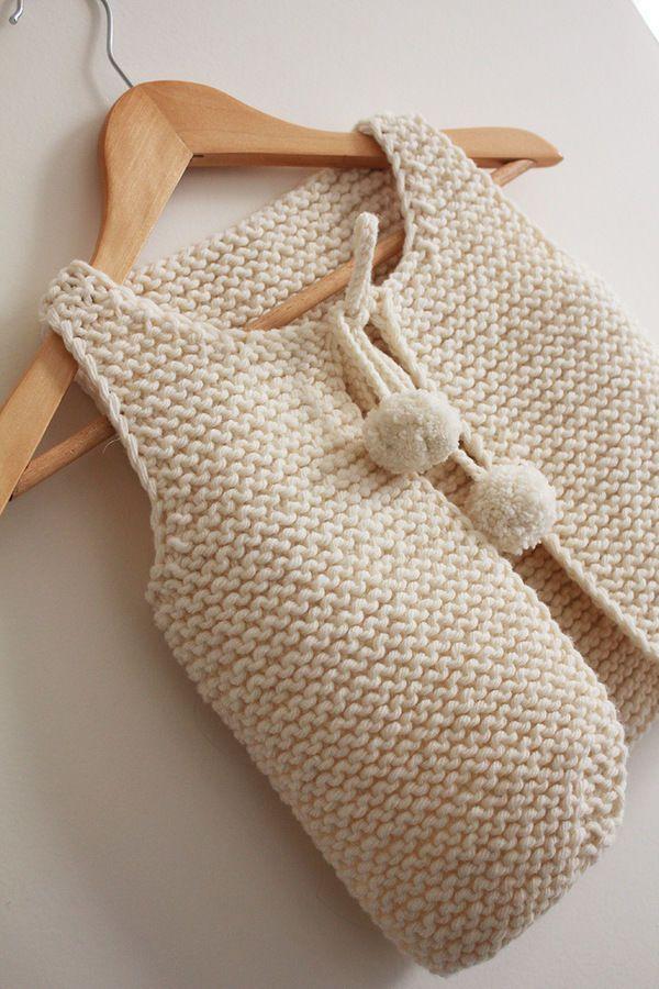 Gilet de berger du bébé à l'adulte Lil Sheperd - tricot - Tutoriels de tricot…