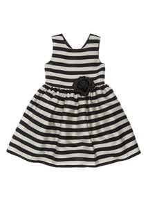 Multicoloured Stripe Occasion Dress (3 - 12 years)
