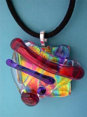Bitznbutz Dichroic Fused Glass Pendant