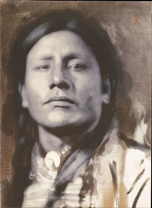 A Sioux Chief by Joseph T Keiley, circa 1898. Keiley's association with Stieglitz began about 1898, the year he and Gertrude Käsebier photographed a group of Lakota Sioux—including this man, Has-No-Horses—who were in New York as part of Buffalo Bill's Wild West show.