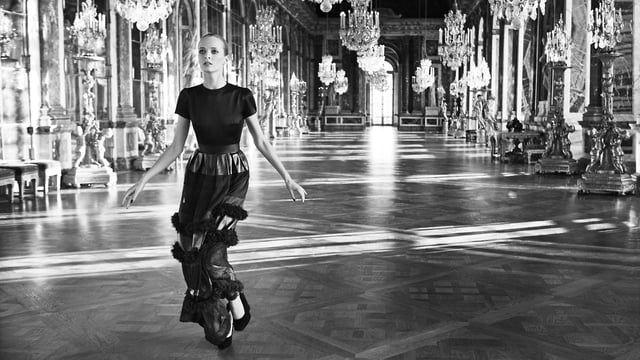 'Secret Garden - Versailles' A film by Inez and Vinoodh  Starring Daria Strokus, Melissa Stasiuk and Xiao Wen Ju in La Galeries Des Glaces - Château de Versailles. Music by Depeche Mode: 'Enjoy the Silence'