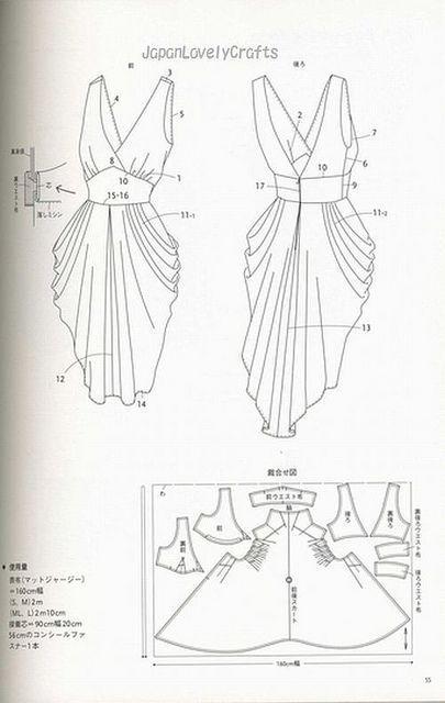 drape drape dress no5 | Patterns sewing: