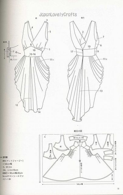 drape drape dress no5 | Patterns sewing: