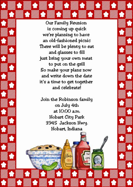 Family Reunion Invitation Wording New Family Reunion Invitation