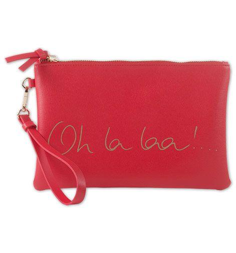 Deze super leuke clutch vind je nu voor nog maar €7! Wat een koopje!  oh la laa  #mode #accessoires #rode #handtas #vrouwen #dames #fashion #red #bag #accessories #sale