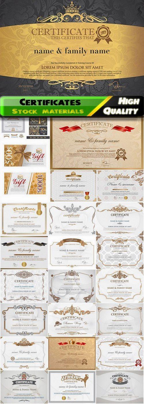 80 best diplome et certificat images on Pinterest Certificate - best of corporate stock certificate template word