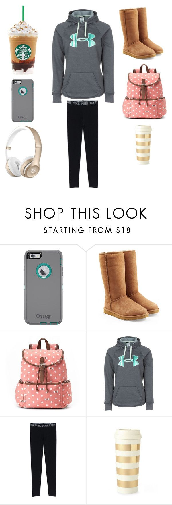 Fav Outfit For School by jenlisaac ❤ liked on Polyvore featuring UGG Australia, Candies, Under Armour, Kate Spade, womens clothing, women, female, woman, misses and juniors