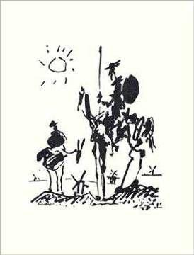 Pablo Picasso - Don Quixote - Kunstdrucke Poster