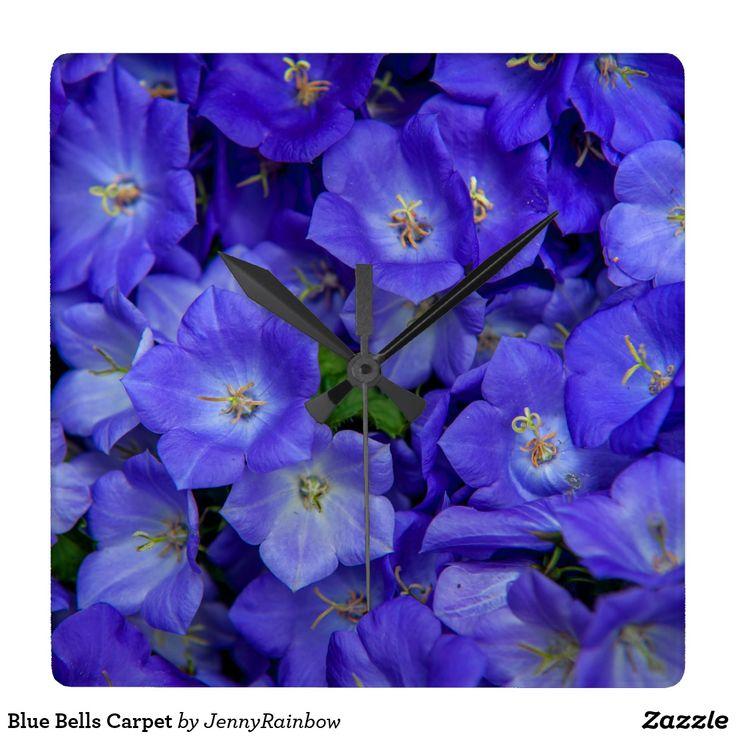 Blue Bells Carpet Square Wall Clock