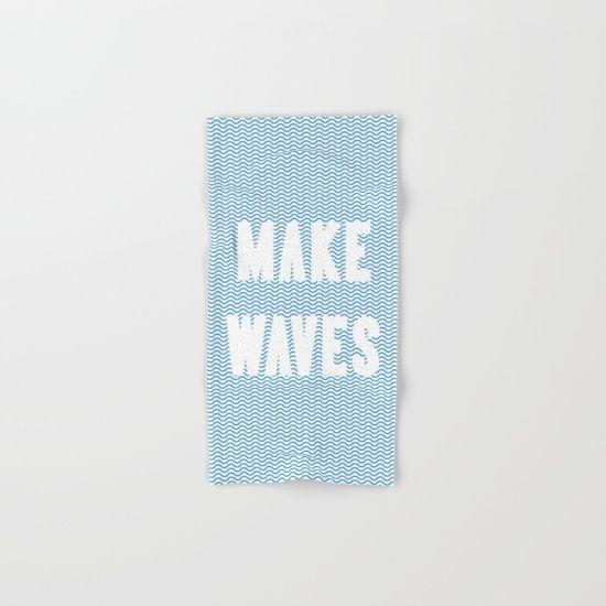 Make Waves Hand & Bath Towel by Fimbis | Society6  water, wavy, ocean, nautical, sailing, sailor, sea, ocean, summer, beach,