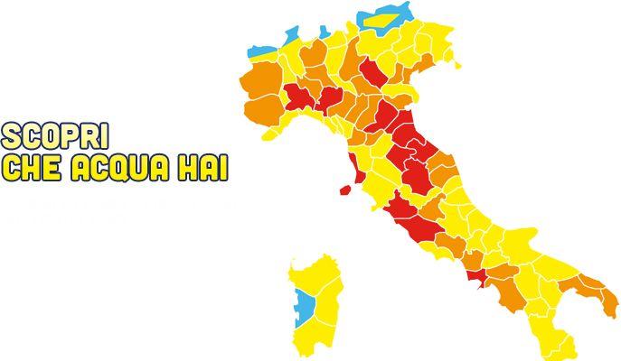 mappa acqua dura in Italia