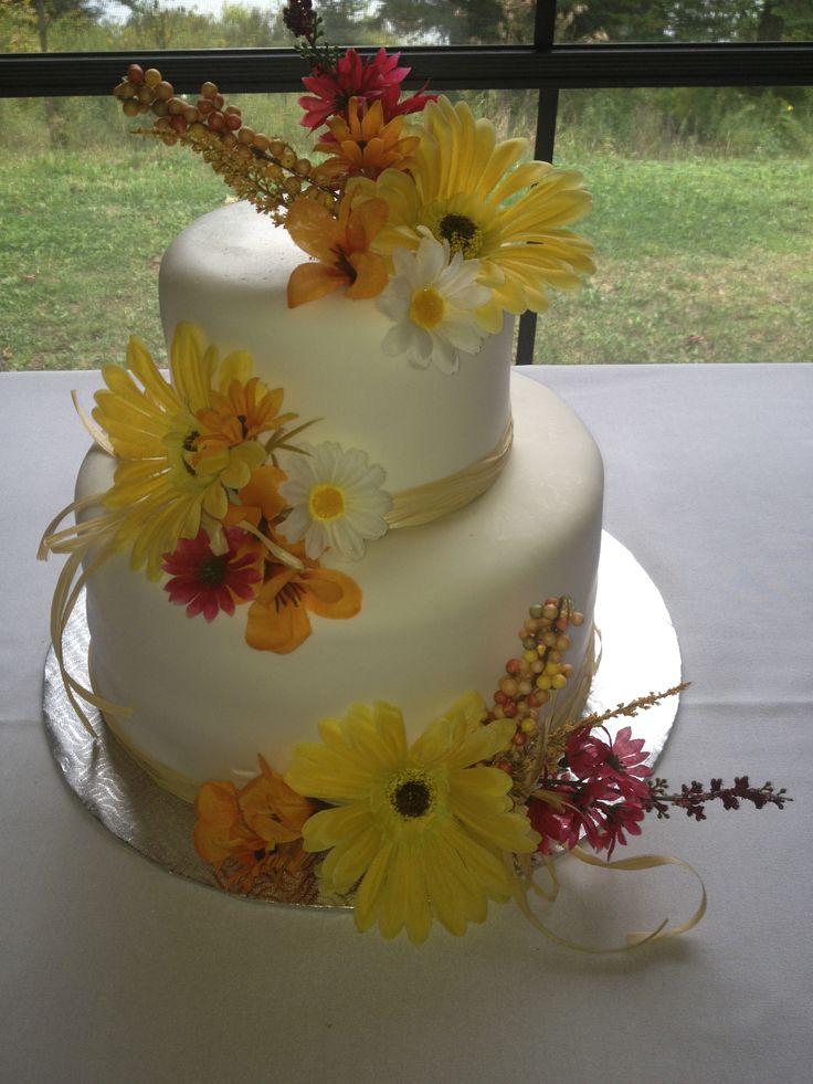gâteau de mariage champêtre automnal.