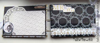Свадебные фотоальбомы ручной работы. Ярмарка Мастеров - ручная работа Свадебный альбом белый. Handmade.