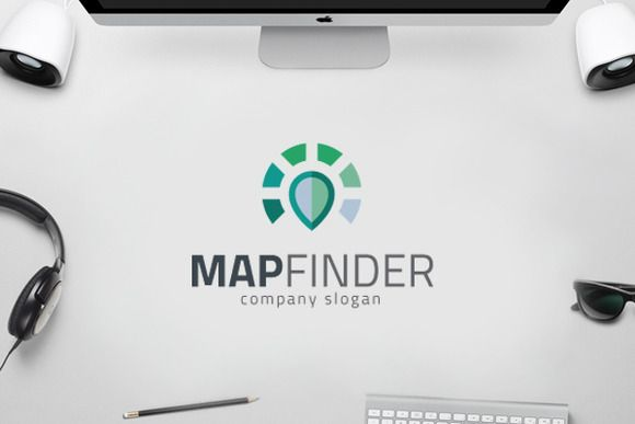 Map Finder - Spot Load Logo by yip87 on Creative Market
