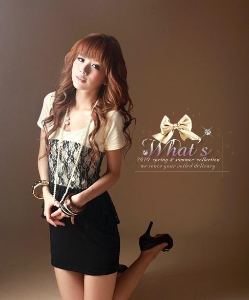 Womens-Fashion-Style-Korean-Hairs-Dress