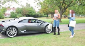 Ultimate Lamborghini GOLD DIGGER Pick Up Prank