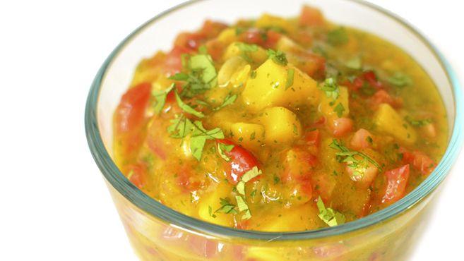 Sweet & Spicy Mango Salsa with Habanero - Fresh! Rich Bitch Cooking Blog