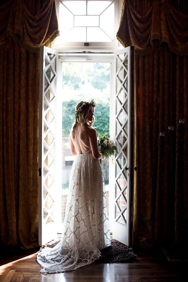 Bride portrait in window    #wedding #weddingday #aislesociety