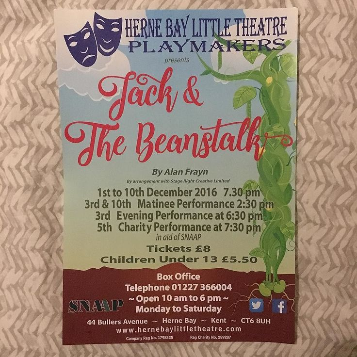 Jack & The Beanstalk in aid of SNAPP @hbltheatre #pantomime #panto #hernebay #theatre #acting