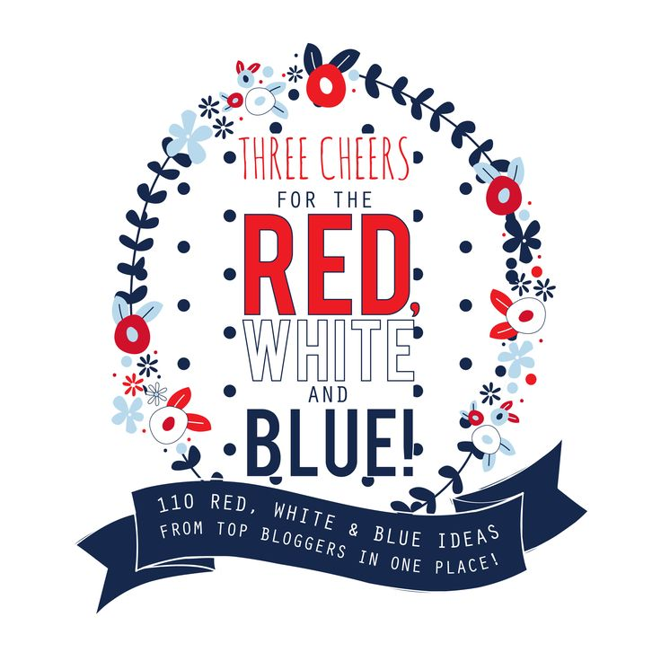 Rustic Red, White, & Blue Chalk Painted Book Crate {& 110 Red, White, and Blue Ideas!}