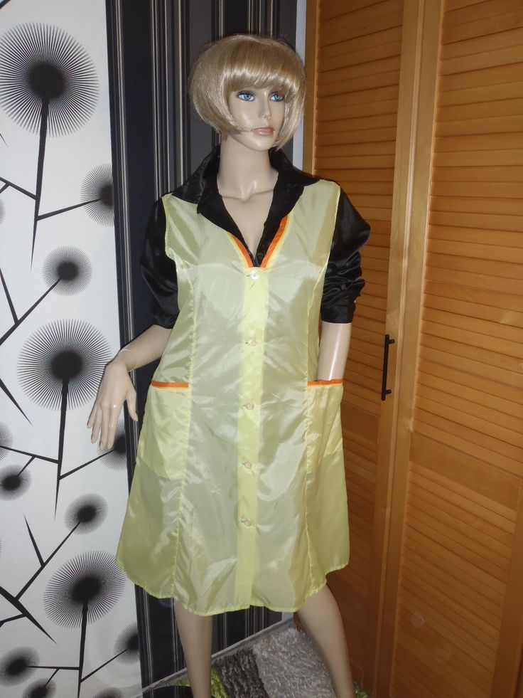 Nylon Kittel Schürze XL  Nylon Glanz  Blouse Sissy Boy Shiny Silk Apron Overall in Kleidung & Accessoires, Vintage-Mode, Vintage-Mode für Damen | eBay!