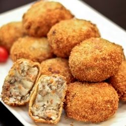 Korokke (Japanese Croquette) - popular Japanese snack sold in bakeries and traditional food stands