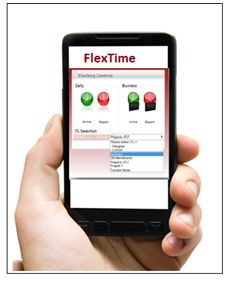 Mobile Phone Clocking  http://flextime.ie/solutions/time-attendance/time-devices/