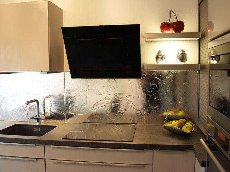 7 besten Küchenrückwände aus Schmelzglas Bilder auf Pinterest Silber - küchenspiegel aus holz