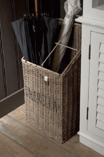 Rustic Rattan Umbrella Basket